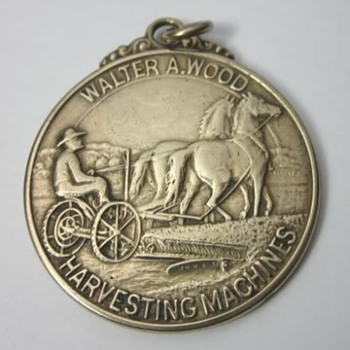 1904 Walter A Wood Harvesting Machines St Louis Worlds Fair Watch Fob - Pocket Watches
