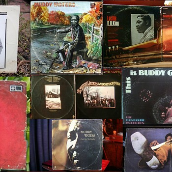 Blues Record Cover Collages. - Records