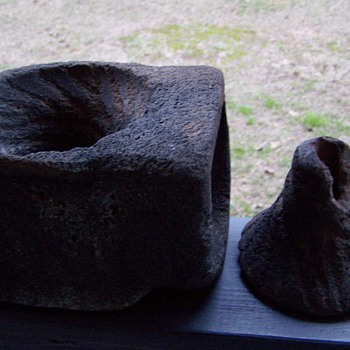 mortar pestle stone rock  - Tools and Hardware