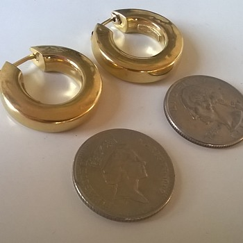 18K (.750) Gold Creole Earrings For.....25 Cents.... - Fine Jewelry