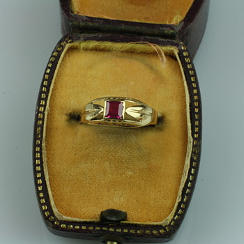 18 carat gold and ruby ring - Fine Jewelry