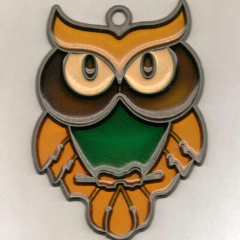 """Owl"" - Sun-Catcher - Art Glass"