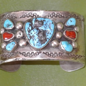 1800's Pre-Harvey / Railroad  NAVAJO CUFF Fine Silver 120 grams! - Fine Jewelry