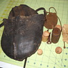 Great-Great-Grrandfather's Civil war powder pouch and items