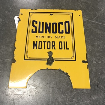 Sunoco oil sign  - Petroliana