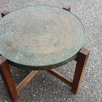 Old copper top table