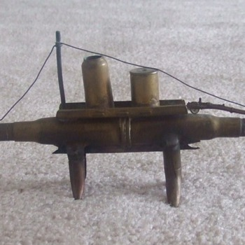 WW1 Trench Art Submarine c. 1918 - Military and Wartime