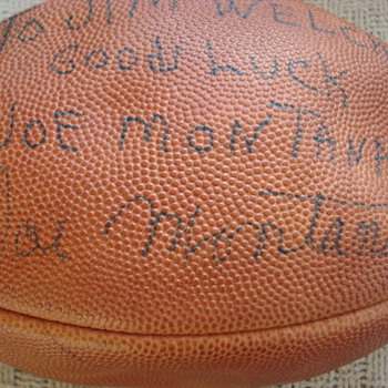 Help ~ Unusual Early Joe Montana Signed Football