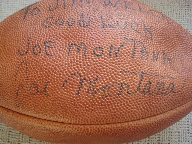 finest selection f02c0 c7061 Help ~ Unusual Early Joe Montana Signed Football ...