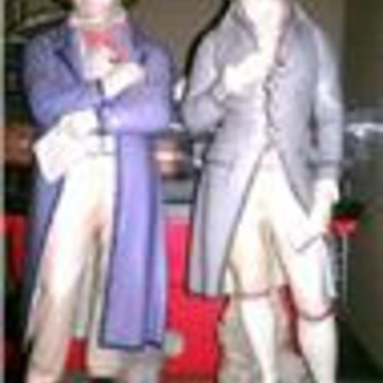 Beethoven and Mozart figurines - Pottery