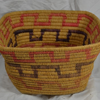Block Design Native American Basket - Unknown Origin - Native American