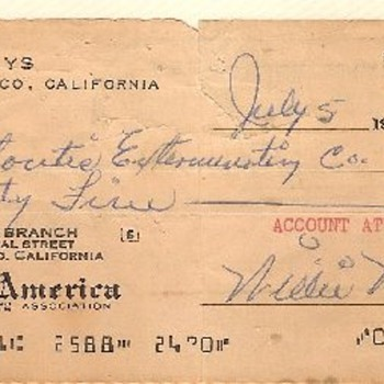Willie Mays NSF Check 1961