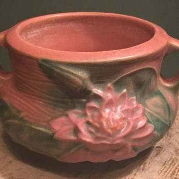 """Roseville art pottery double handled jardiniere vase double handled 3"""" - Pottery"""