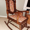 Hand carved wooden rocking chair