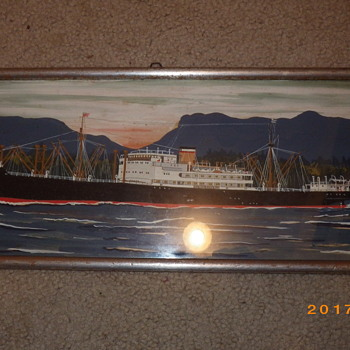 RC Ship Painting.