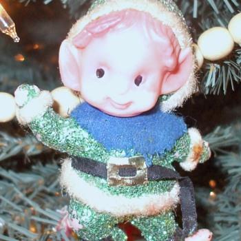 Glittery Elf ornament - Christmas