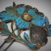 Qing Dynasty Kingfisher feather Hair Pin, Chinese 19th Century