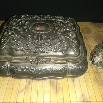 Vintage Chinese Silver Jewelry Box - Asian