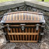 1885 Antique Martin Maier Trunk oak slat
