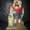 "Unknown Brass Doorstop Judy? of Punch & Judy 12"" Cold Painted Lead filled Base"