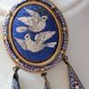 Antique Micro Mosaic Eutruscan style locket pendant