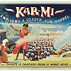 "Original 1914 Kar-Mi ""Gun Barrel"" Stone Lithograph Poster"