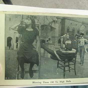 "1908 VERY BIZARRE POSTCARD=""BLOWING THEM OFF TO HIGH BALLS!"" - Postcards"