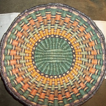 Native American Hopi Wicker Basket - Native American