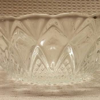 "Unkown Maker 5"" Crystal Bowl - Glassware"
