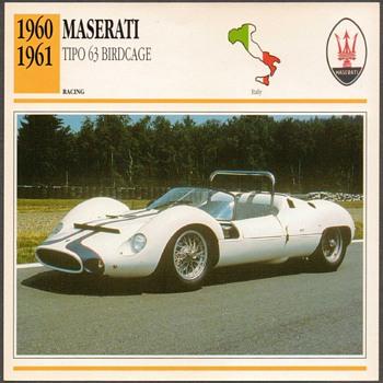 Vintage Car Card - Maserati Tipo 63 - Classic Cars