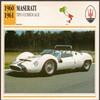Vintage Car Card - Maserati Tipo 63