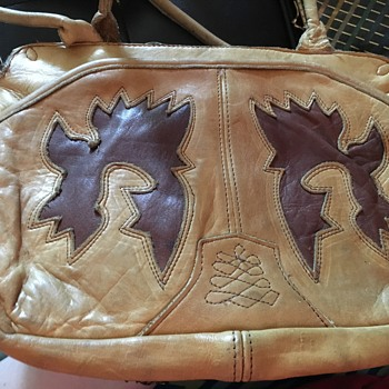 Vintage Leather Handbag - Bags