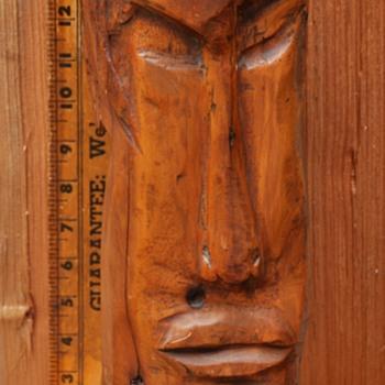 Vintage carved Tiki head or whatever... - Folk Art