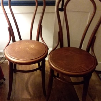Old NH Quaker school house chairs  - Furniture