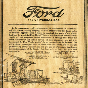 1921 Ford Truck Newspaper Ad... - Classic Cars
