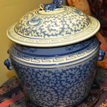 Large, Old Covered Pot from China