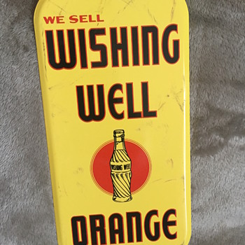wishing well orange sign - Signs