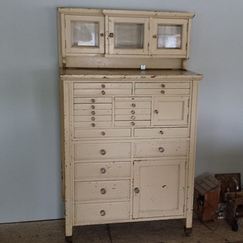 My first try at restoring was a Dental Cabinet. - Furniture