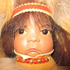 """Coyote Woman"" Cradleboard number 27 out of 600 made in 1991"
