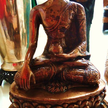 Buddha Statue  13 inches tall, 9.6 pounds, from India, I think - Asian