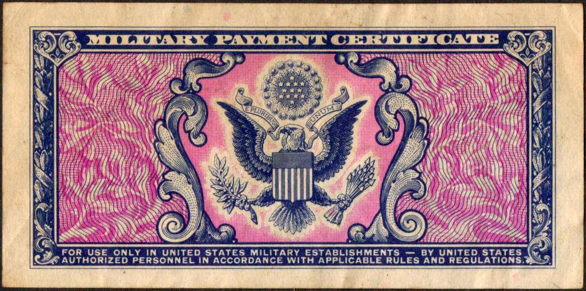 Us Military Payment Certificate Series 481 Collectors Weekly