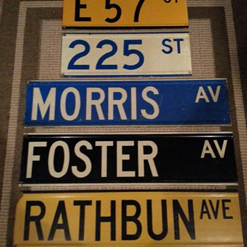 """Color-coded"" street signs from New York City - Signs"