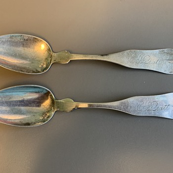 Inherited Spoons Made by Vermont Silversmith - Silver