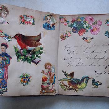 Victorian Scrapbook 1879 - mourning  - Victorian Era