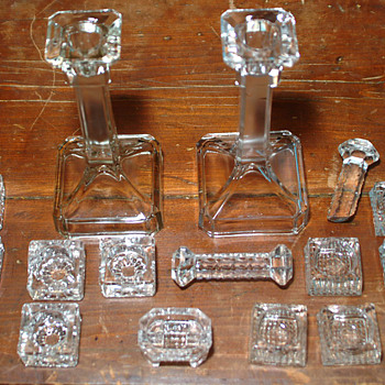 Glass candlestick and others - Glassware