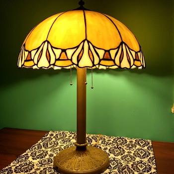 Antique Slag Glass Lamps - Lamps
