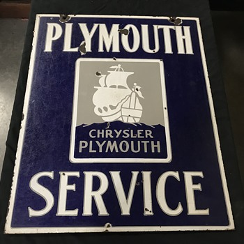 1930's Plymouth service sign  - Signs