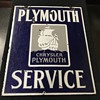 1930's Plymouth service sign