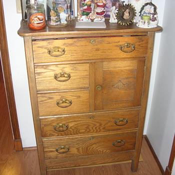 nice oak high boy - Furniture