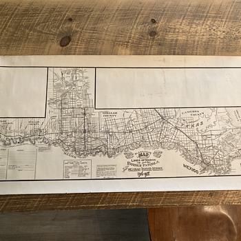 1916-17 Border Patrol U.S. Map and U.S 16th Cavalry Memorial Documents created by Sergeant C. A. Rice.  McAllen, Texas  - Military and Wartime